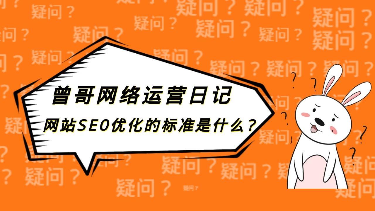 网站SEO优化的标准是什么?插图